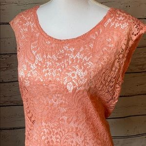 Maurices Tops - Maurices pink sleeveless lace top L